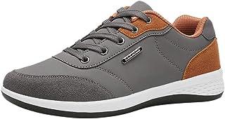 Chaussures De Course en Cuir Tendance Running Respirantes Basket De Business Mode Basse Pas Cher Soldes Sneakers Fitness H...