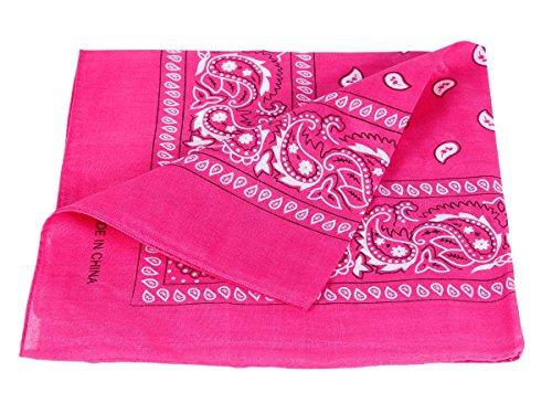 Alsino Bandana Zandana Kopftuch Halstuch Paisley Muster 100% Baumwolle (pink 11)