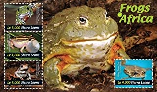 2011 Frogs of Africa, Collectible Sheet of 4 Stamps, Mint Never Hinged