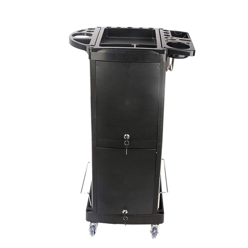 パトワ派手服を着るヘアケア美容院ツール車のサロンヘアカラーペーマー特別なブラケットドアローラーホイールトロリーブラック