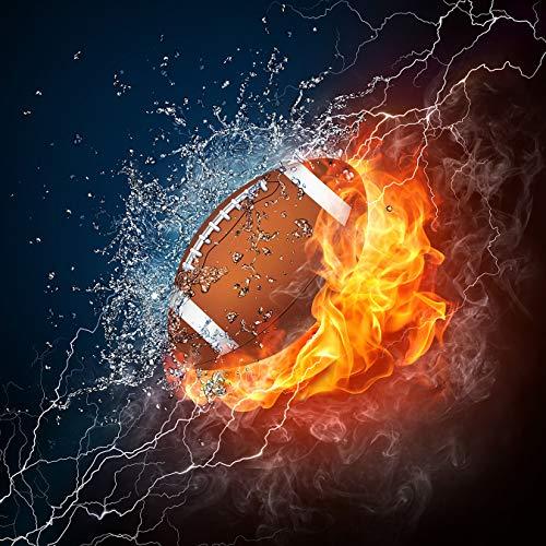 Bilderdepot24 Fototapete selbstklebend Football - Feuer und EIS - 150x150 cm - Wandposter Tapete Motivtapete - Illustration Feuer Wasser