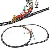 Redxiao~ 【𝐑𝐞𝐠𝐚𝐥𝐨】 Tren eléctrico de Juguete, Camiones de Control Remoto, Juego de Juguete de Tren ensamblado DIY, Juego de vías de Tren, para niños, niños, Adultos, niñas