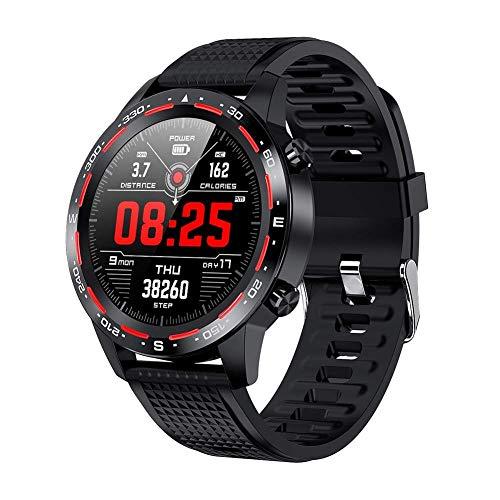 TETHYSUN Reloj inteligente L12 reloj inteligente, IP68 impermeable con Bluetooth llamada ECG+PPG ritmo cardíaco Fitness Tracker presión arterial deportes smartwatch moda (color: A)