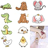 10 Sheets different designs of temporary waterproof tattoo stickers, suitable for children and adults, cute chicken / duck / sheep / Elephant / cartoon patterns