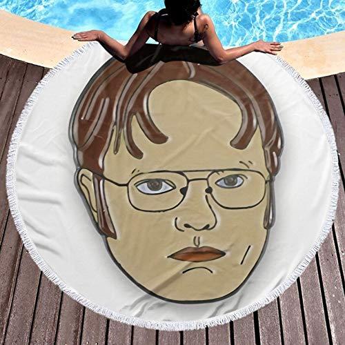 Dw-ight Sc-hrute de secado rápido, súper absorbente, ligera, grande, toalla de playa de microfibra, para viajes, piscina, natación, toalla de baño