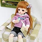 UCanaan BJD Doll, 1/6 SD Dolls 12 Inch 18 Ball Jointed Doll DIY Toys with Full Set Clothes Shoes Wig Makeup, Best Gift for Girls-Mission
