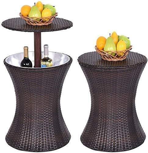 HYY-YY Copas de Vino Ocio al Aire Libre Muebles de la Barra del Vector del Vino Enfriador PE Armadura de la Rota Bebe Cubo de Hielo
