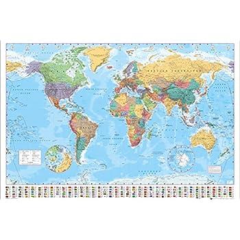 Cartina Mondo Italiana.Ambrosiana Gb Eye Ltd Mappa Del Mondo Politico Maxi Poster 61 X 91 5 Cm Amazon It Casa E Cucina