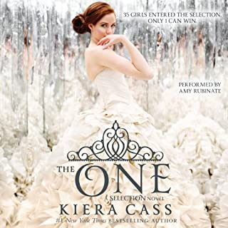 The One     The Selection, Book 3              By:                                                                                                                                 Kiera Cass                               Narrated by:                                                                                                                                 Amy Rubinate                      Length: 7 hrs and 25 mins     5,281 ratings     Overall 4.4
