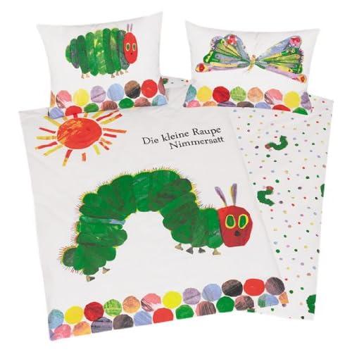 Herding Il Piccolo Bruco Maisazio Set di Biancheria da Letto, Cotton, Multicolore, 100 x 135 cm, 40 x 60 cm