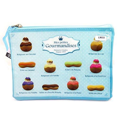 Les Trésors De Lily [L9033] - Pochette Plate 'Mes Petites Gourmandises' Bleu