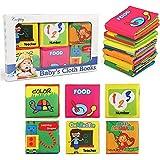 NEWSTYLE Libri di Stoffa per Neonati,Libro Stoffa Baby Senses Libro Cognition Libri Tessuto Libro Bambino...