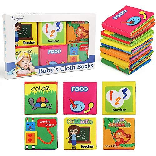 NEWSTYLE Libros Blandos para Bebé,Libro de Cognición del bebé Libro