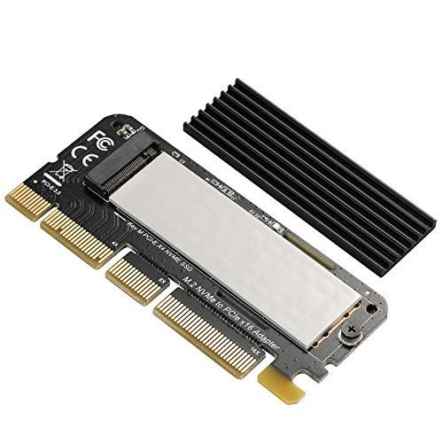 BEYIMEI NVME PCI Express 3.0 x16 en Tarjeta PCIe NVMe y Tarjeta AHCI SSD con disipador de Calor, Adecuado para Factor de Forma M.2 (NGFF) con Clave M en tamaño 2230/2242/2260/2280