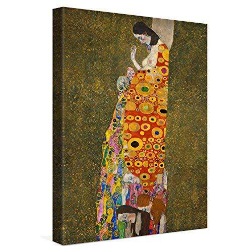 PICANOVA – Gustav Klimt Hope II 30x40cm – Quadro su Tela – Stampa Incorniciata con Spessore di 2cm Altre Dimensioni Disponibili Decorazione Moderna