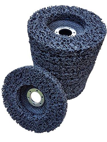 10 x Rostio CSD Scheibe 125 mm schwarz Reingungsscheibe Set | Schleifscheibe Rostentferner für Flex | Winkelschleifer