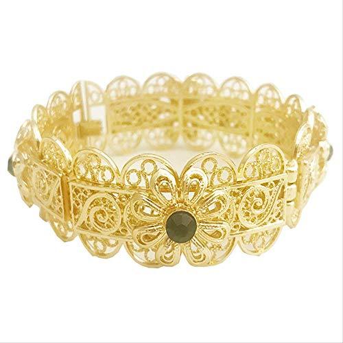 Gold Armreifen Für Frauen Kopf Gold Dubai Braut Hochzeit Äthiopisches Armband Afrika Armreif Arabischer Schmuck Gold Charm