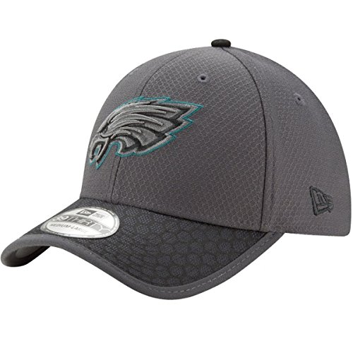 New Era Herren NFL17 3930 SL PHIEAG GPH BLK Cap, DK Grey, ML-58,7-61,5cm (L)
