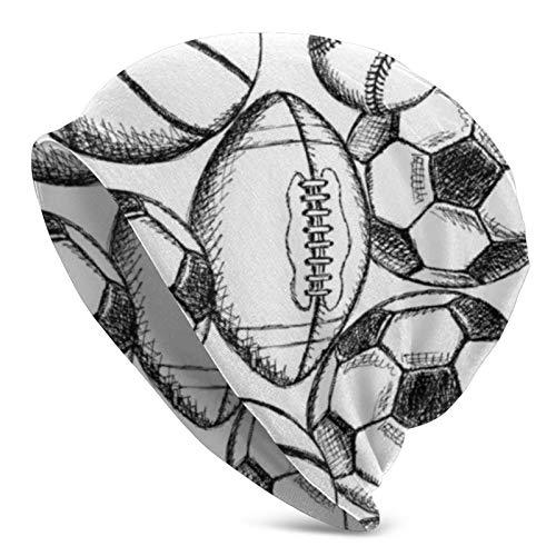 AEMAPE Fútbol Fútbol Americano Béisbol y Baloncesto Gorro de Punto para Hombres Adultos - Beanie Hat Sombreros Unisex, Gorra, pasamontañas, Medio pasamontañas