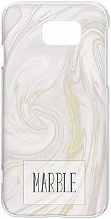 ハードケース スマホケース Galaxy S6 edge SC-04G・SCV31・404SC 対応 大理石柄・ホワイト マーブル模様 ブックカバー風 きらきら SAMSUNG サムスン ギャラクシー エスシックス エッジ docomo au ...
