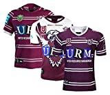 DZHTSWD Rugby T-shirt 2019 Manly Seahawks Accueil Rugby Jersey 2020 Manly Seahawks Hero Édition Maillot Rugby Football Maillots Hommes Maillot d'entraînement (S-XXXL), Taille: XXL, Couleur: 2019heroed