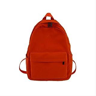 RUJNGYSVB Backpack Lovely Little Girl Printing Waterproof Nylon Women Backpack Female Leisure Schoolbag For Teenage Girls Travel Backpack 29cm12cm37cm orange