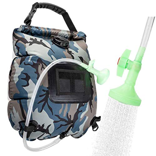 VIGLT Camping Shower Bag 5 Gallons/20L Solar Solar Shower Bag Heating with Removable Hose and Shower Head for Camping Outdoor Traveling Hiking Summer Shower