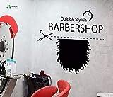 xinyouzhihi Vinyl l Decal Barbershop Quicke Stylish Signboard Hairstyle Beard Scissors Salon Room85.5x90cm