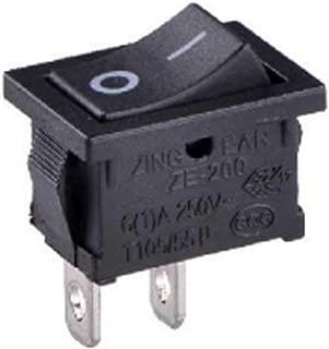FidgetKute 1Pc New Mini Rocker Switch 250V/6A 125VL/5A 125VAC/10A 2PIN Zing Ear ZE-200 2Pin