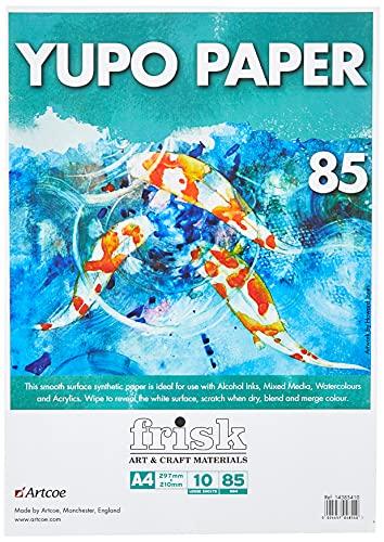 Frisk Yupo-Confezione di Carta A4, Bianco
