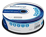 MediaRange BD-R 25 GB Recordable Blu-Ray (BD-R) – Pack of 25
