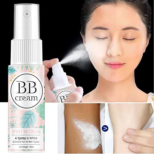 Allbestaye BB Cream Spray Concealer Foundation Wasserfest Whitening Skin Portable Lazy Makeup for Gesicht Körper Hals Bein