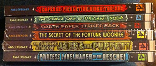 Origami Yoda Set of 6 (Six) Paperbacks Includes the Strange Case of Origami Yoda; Emperor Pickletine Rides the Bus, Darth Paper Strikes Back; the Secret of the Fortune Wookiee; the Surprise Attack of Jabba the Puppet; Princess Labelmaker to the Rescue Paperback
