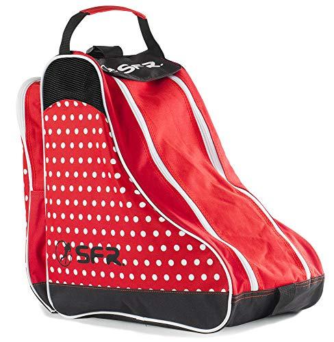 Sfr Skates Designer Ice & Skate Bag, Unisex-Erwachsene Stofftasche, Rot (Red Polka), 24x15x45 cm (W x H L)