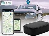 Salind, localizzatore GPS per auto, moto, veicoli e camion con magnete, durata della batteria fino a 90 giorni in modalità standby.