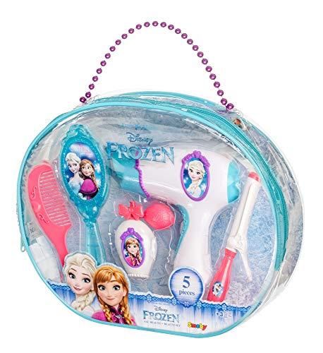 Smoby-320141-Frozen Bolsa Belleza-+ 5Accesorios Incluye-Secador Electronique