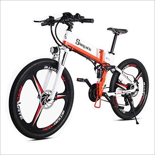 Shengmilo Bicicleta Eléctrica E-Bike, Bicicleta Eléctrica de 26 Pulgadas 350W, con Batería...