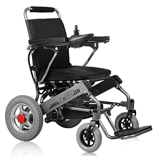 FTFTO Inicio Accesorios Ancianos Discapacitados Silla de Ruedas Eléctrica Plegable Plegable Seguro y fácil de Conducir Ancianos Discapacitados Automático Inteligente Scooter de Cuatro Ruedas Negro