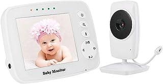 Hotaluyt Bebé vídeo visión Nocturna inalámbrica Dual View recién Nacido Pantalla Digital LCD 3.2inch cámara de Dos vías o