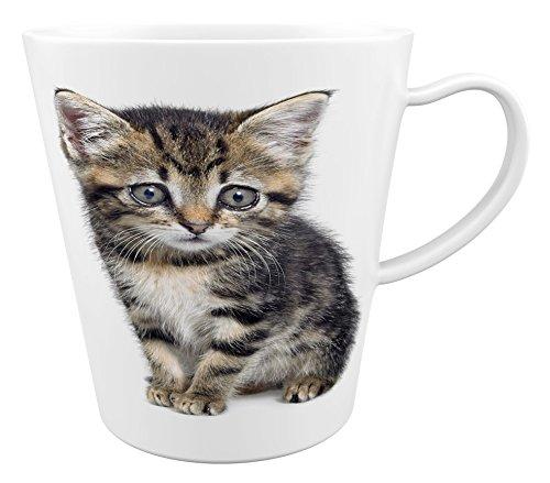Kat - kater - katje | Latte Macchiato beker koffiebeker met fotodruk |001