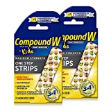 Compound W One Step Medicated Strips For Kids | Wart Removal | 10 Strips | 2 Pack 10 Count (Pack of 2) 20 Count