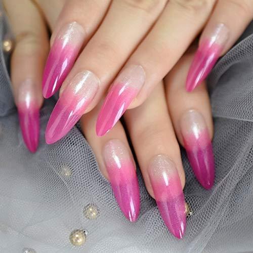 DKHF Valse nagels Extra lange nagel Extreme White 24 Fake Nails acrylnagels