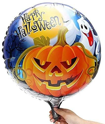 CFDZCP Tete de Mort Decoration Bannière Ballons Halloween Happy Halloween, des Lettres Décorer, des Citrouilles, Un Ballon D'aluminium for Les Accessoires De Décoration De Fête De La Maison Halloween