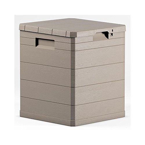 Toomax Woody's Aufbewahrungsbox aus Kunstharz, für den Garten, vielseitig einsetzbar, 90 cm, 42 x 44 x 50 cm