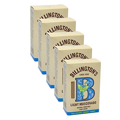 Billington's Light Muscovado, 500g, 5er Pack