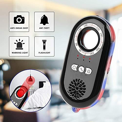 Spionagecamera Finder spionage-detector voor verborgen camera's anti-spionage-infrarood detector draadloze signaalalarm voor het herkennen van verborgen camera's en ter bescherming van het eigendom