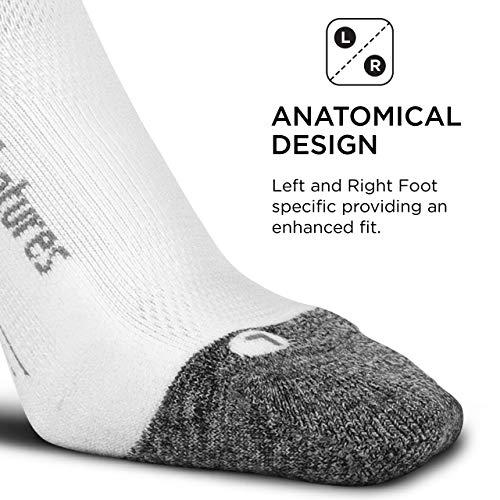 Feetures - Elite Light Cushion - Quarter - Athletic Running Socks for Men and Women - White - Size Large