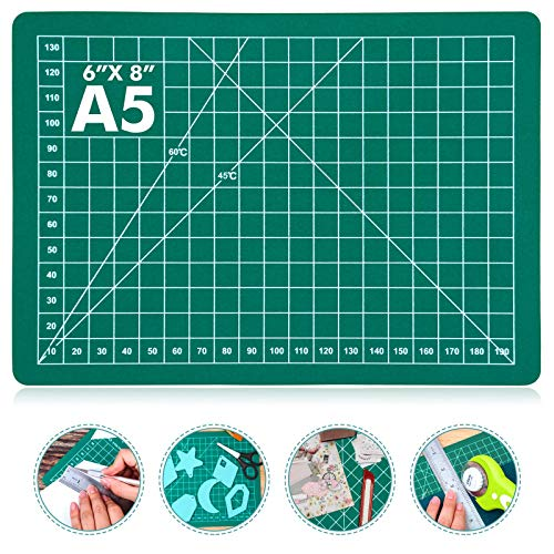 "Self Healing Craft Mat, Anezus 8"" x 6"" A5 Small Sewing Cutting Mat Rotary Fabric Mat for..."