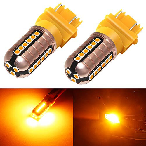 Phinlion 3157 LED Orange Turn Signal Light 3000 Lumens Super Bright 3030 27-SMD...