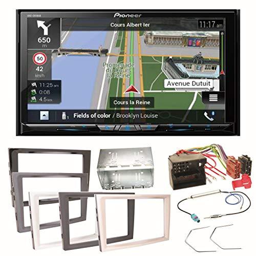 Pioneer z810dab Navegación Radio Digital CarPlay Android Auto Bluetooth USB Dab + CD DVD MP3Juego de Montaje para Opel Astra H, Corsa D, Zafira B Antara